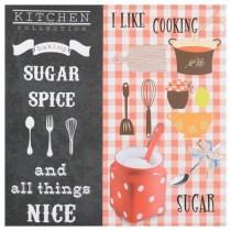 "Inart Πίνακας/καμβάς printed ""Sugar"" με μεταλλικές λεπτομέρειες"