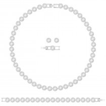Swarovski σετ κοσμημάτων 5367853 Angelic All-Around Set, White, Rhodium plating Authentic