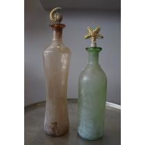 Διακοσμητικά μπουκάλια με πώμα μεταλλικό κοχύλι σετ 2.