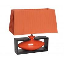 Φωτιστικό τραπεζιού κεραμικό πορτοκαλί.