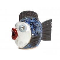 Φαναρι χειροποιητο κεραμικο ψαρι 25x30x15cm