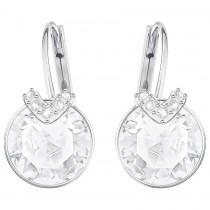 Swarovski σκουλαρίκια 5292855 Bella V Pierced Earrings, White, Rhodium plating