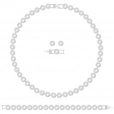 Swarovski σετ κοσμημάτων 5367853 Angelic All-Around Set, White, Rhodium plating Authentic