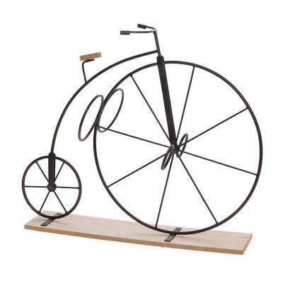 "Inart 3-70-104-0675 Μπουκαλοθήκη απο μέταλλο και mdf, ""Ποδήλατο""."