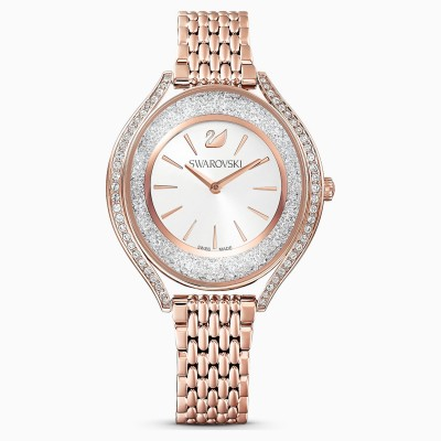 Swarovski επιχρυσωμένο ρολοι 5519459 CRYSTALLINE AURA WATCH, METAL BRACELET, ROSE GOLD TONE,