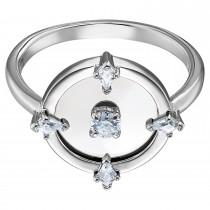Swarovski επιροδιωμένο δαχτυλίδι 5515021 North Motif ring 58, White, Rhodium plated