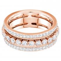 Swarovski επιχρυσωμένο δαχτυλίδι 5441200 Further Ring White, Rose-gold tone No52