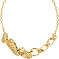 Swarovski επιχρυσωμένο κολιέ 5520667 SHELL NECKLACE, LIGHT MULTI-COLORED, GOLD-TONE PLATED
