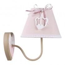 Inart 3-10-876-0038 Μεταλλική απλίκα με ροζ καπέλο