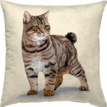 Μαξιλάρι  ταπισερί-στοφα - γάτα. 45x45cm. oikos510
