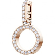 SWAROVSKI επιχρυσωμένο τσαρμ REMIX COLLECTION CHARM O, WHITE, ROSE GOLD PLATING 5437607