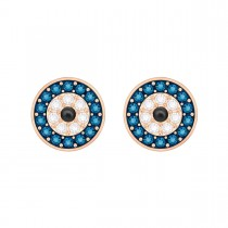 Swarovski επιχρυσωμένα σκουλαρίκια 5377720 LUCKILY EVIL EYE PIERCED EARRINGS, MULTI-COLOURED