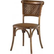 Inart Καρέκλα Ξύλινη καφέ. 45x42x90. 3-50-597-0049