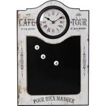ESPIEL Ρολόι Τοίχου-Μαυροπίνακας Mdf. 43x60εκ. LOG242