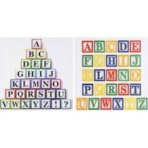 Inart πίνακες σετ2 αλφάβητο. 40x40cm. 3-90-709-0140