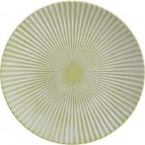 INART Πιατέλα Ξύλινη Αντικέ Πράσινη. Δ31x4cm. 3-70-686-0022
