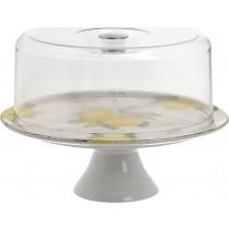 INART Τουρτιέρα Με Καπάκι Lemon Κεραμικό Δ27x19cm 7-60-017-0010