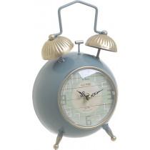 INART Ρολόι Επιτραπέζιο Μεταλλικό Πετρόλ/Χρυσό.16Χ8Χ25cm.  3-20-977-0283
