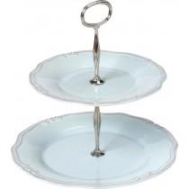 Espiel Ορντερβιέρα Διώροφη Πορσελάνης Γαλάζια Tiffany. RSB112K1