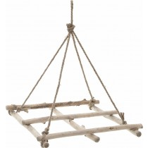 Inart Κρεμαστή Τετράγωνη Ξύλινη Βάση Για Διακόσμηση 40x40x5/48cm. 3-70-269-0019