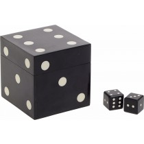 Inart Σετ κουτί με 5 ζάρια 9,5X9,5X9,5cm.  3-70-622-0005