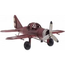Inart Μινιατούρα Μεταλλική Αεροπλάνο κόκκινο. 17x14,5x6. 3-70-726-0226