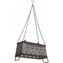 Inart Φωτιστικό Οροφής μεταλλικό- Γκρι.  39x14x20cm.  3-10-065-0004