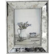Espiel Κορνίζα Με Ρετρό Καθρέφτη  Ασημί  Μέταλλο. 10x15cm. NAZ119