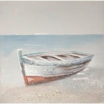 Πίνακας/ελαιογραφία σε κάδρο Βάρκα. 60x60cm. 674-3065