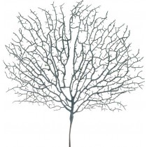Inart Διακοσμητικό Κλαδί-Φυτό Με Γκλίτερ. 3-85-084-0080