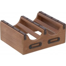 INART  Μπουκαλοθήκη ξύλινη 2 Θέσεων 24x20x10cm. 3-70-314-0061