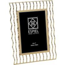 Espiel Κορνίζα Μεταλλική Χρυσή.13x18cm.  FAM314