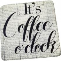 Espiel Σουβέρ Τετράγωνα Coffee (Σετ 6τμχ)  9.5Χ9.5cm. Nik315