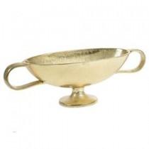 Inart 3-70-357-0029 Μπωλ αλουμινίου σε χρυσό χρώμα 45x16x13 cm