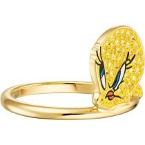 Swarovski επιχρυσωμένο δαχτυλίδι LOONEY 5488600 TUNES TWEETY MOTIF RING