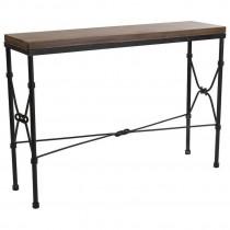 Inart κονσόλα ξύλο-μέταλλο 120x33x85
