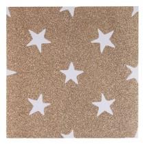 INART Πίνακας Καμβάς Χρυσά Αστέρια. 28x28cm.  3-90-709-0275