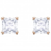 Swarovski επιχρυσωμένα σκουλαρίκια Attract Stud Pierced Earrings, White, Rose gold plating, 5431895