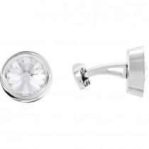 Swarovski ατσάλλινα μανικετόκουμπα 5440319 ROUND CUFF LINKS, WHITE, STAINLESS STEEL