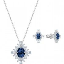 SWAROVSKI επιροδιωμένο σέτ κοσμημάτων PALACE BLUE Rhodium shiny 5498840