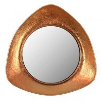 Inart 3-95-626-0011 Καθρέφτης από μέταλλο σε χρυσό χρώμα.