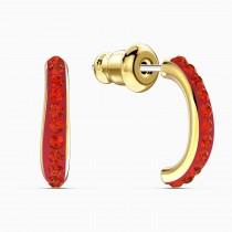 Swarovski επιχρυσωμένα σκουλαρίκια 5567358 THE ELEMENTS HOOP PIERCED EARRINGS, RED, GOLD-TONE PLATED