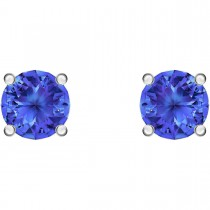 Swarovski επιροδιωμένα σκουλαρίκια 5512385 ATTRACT STUD PIERCED EARRINGS, BLUE, RHODIUM PLATED