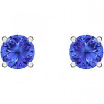 Swarovski επιροδιωμένα σκουλαρίκια 5512385 ATTRACT STUD PIERCED EARRINGS, BLUE, RHODIUM PLATED