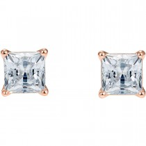 Swarovski επιχρυσωμένα σκουλαρίκια 5509935 ATTRACT PIERCED EARRINGS, WHITE, ROSE-GOLD TONE PLATED