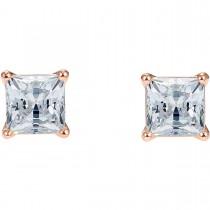 Swarovski επιχρυσωμένα σκουλαρίκια 5509935 ATTRACT PIERCED EARRINGS, WHITE, ROSE-GOLD TONE PLATED