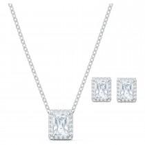 Swarovski επιροδιωμένο σέτ κοσμημάτων 5579842 Angelic Set, White, Rhodium plated