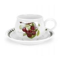 Portmeirion Pomona φλιτζάνι καφέ  κεραμικό - λευκό, διακόσμηση, σειρά Pomona, κεράσι. 270 ml. PL04155