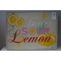 Κάδρο υφασμάτινο με σχέδιο Lemon.