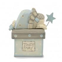 Ξυλινο Κουτί Tooth Fairy -Γαλαζιο